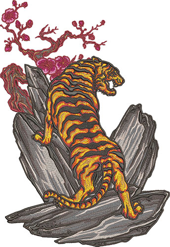 japanese tiger embroidery design