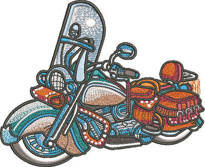 Vintage Motorcycle embroidery design