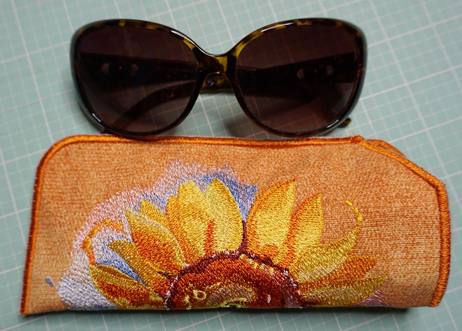 sunflower sunglass case project
