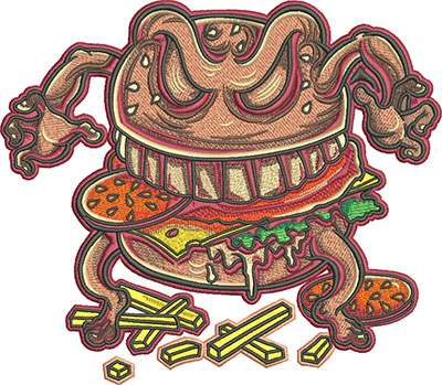 curse of the big burger embroidery design
