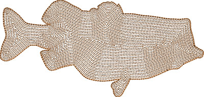 fish embroidery design