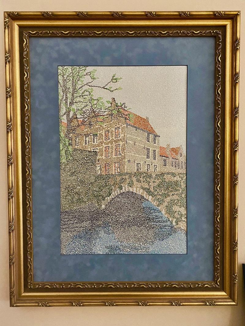 Grand Prize Bridge Scene Embroidery Design