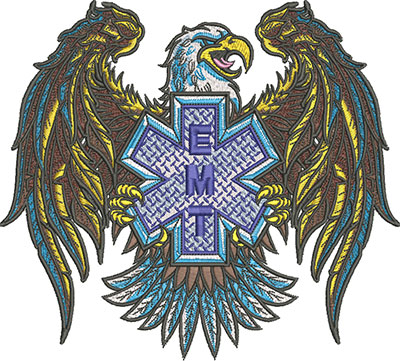EMT eagle embroidery design