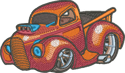 foad pickup truck embroidery design