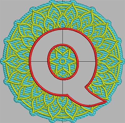 mandala terrycloth monogram embroidery design