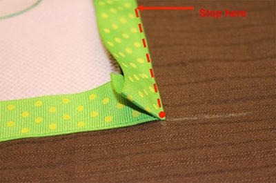 Trimming Ribbon Edge Of Fabric