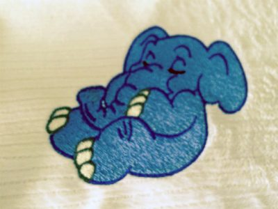 center fabric embroidery design
