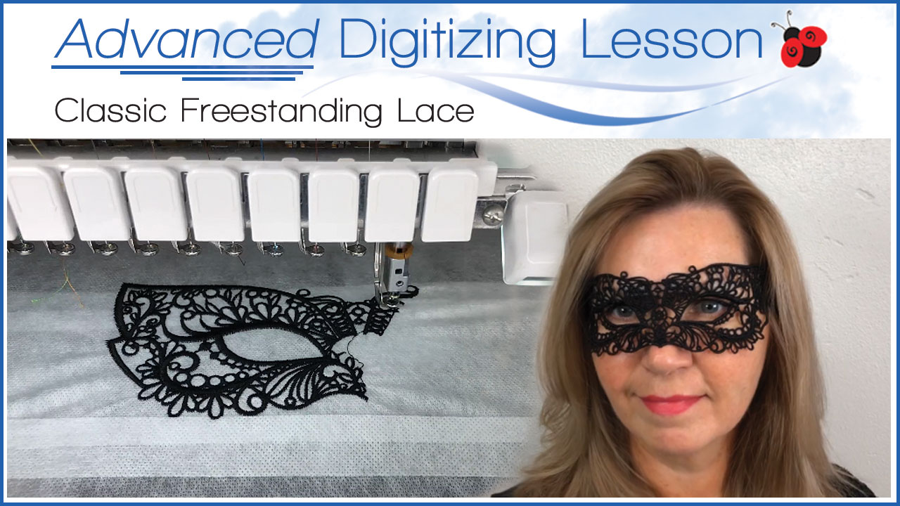 freestanding lace advanced digitizing lesson