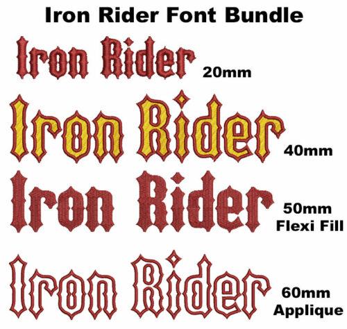 Iron Rider font bundle icon