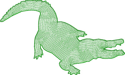 aligator backstitch embroidery design
