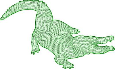 aligator backstitch embroidery design