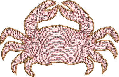 crab satin embroidery design