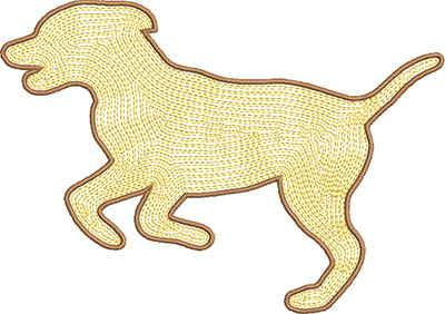 dog satin embroidery design