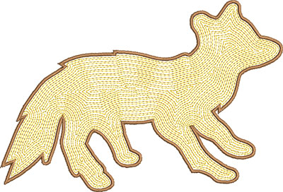 fox satin embroidery design