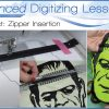 Advanced Digitizing Lesson: In-the-Hoop Zippers