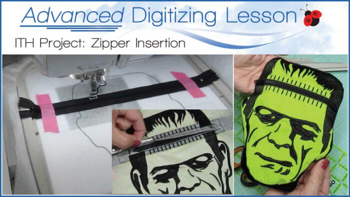 Advanced ITH Zipper Digitizing Lesson