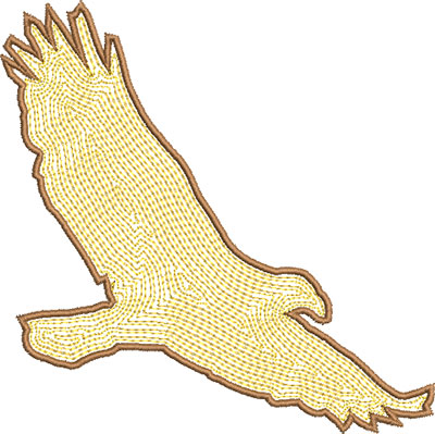 bird in flight outline embroidery design