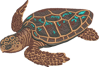 sea turtle cruise embroidery design