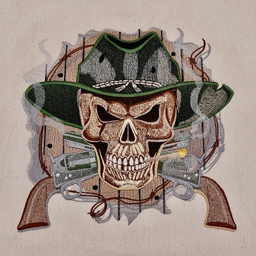 Cowboy Skull Large Legacy Collection Design