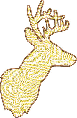deer outline embroidery design