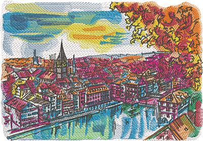 zurich city embroidery design