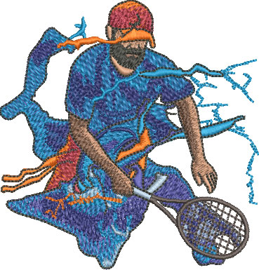 splash tennis embroidery designs