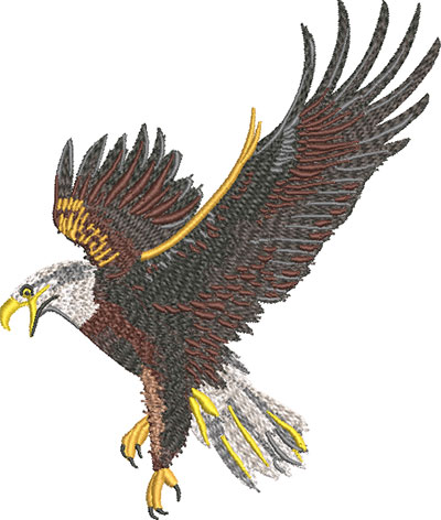 flying eagle embroidery design