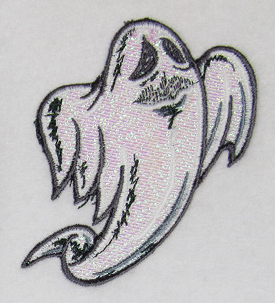 ghost mylar embroidery design