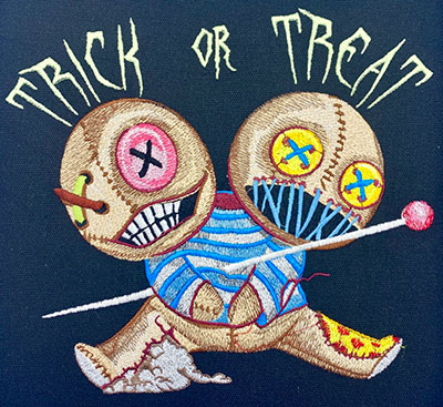 halloween twins embroidery design