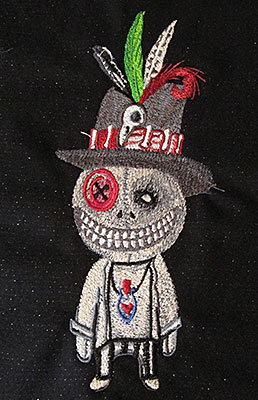halloween boy embroidery design