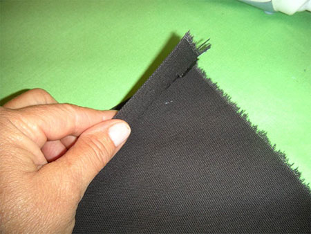 folding fabric for easy halloween trick or treat bag
