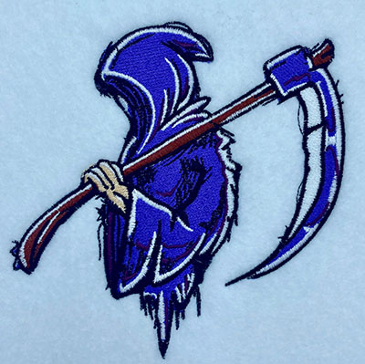 reaper embroidery design