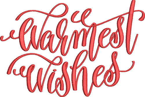 Warmest Wishes Embroidery Design