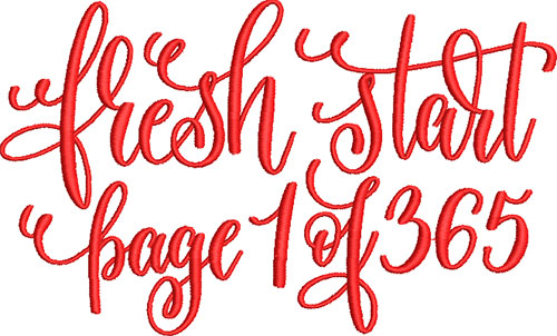 Fresh Start Embroidery Design