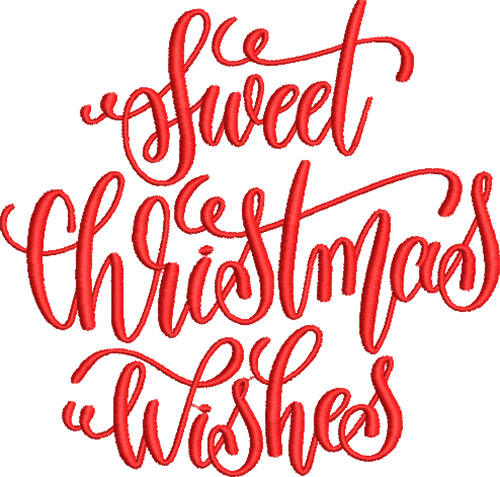Sweet Christmas Wishes Embroidery Design