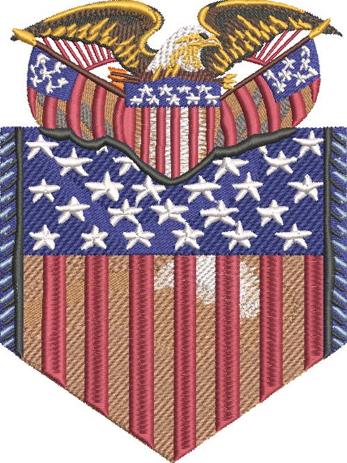 american political banner embroidery design