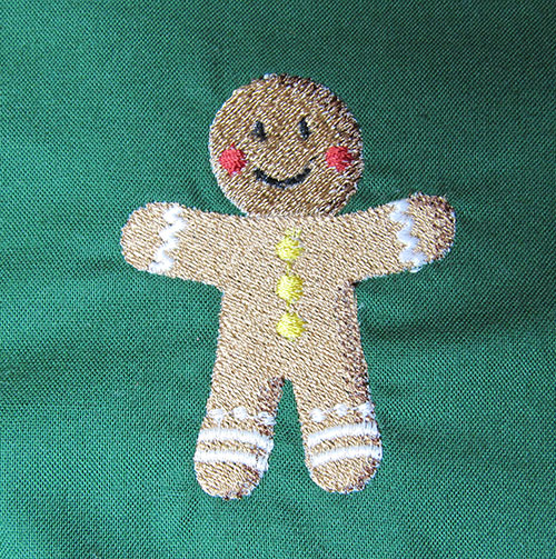 gingerbread embroidery ornament
