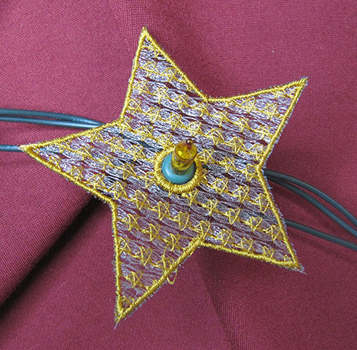 Christmas String Lights Star 1 Embroidery Design