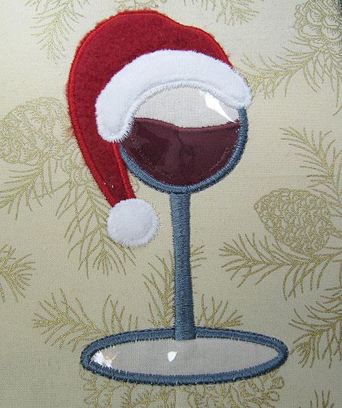 Christmas Wine Plastic Embroidery Design