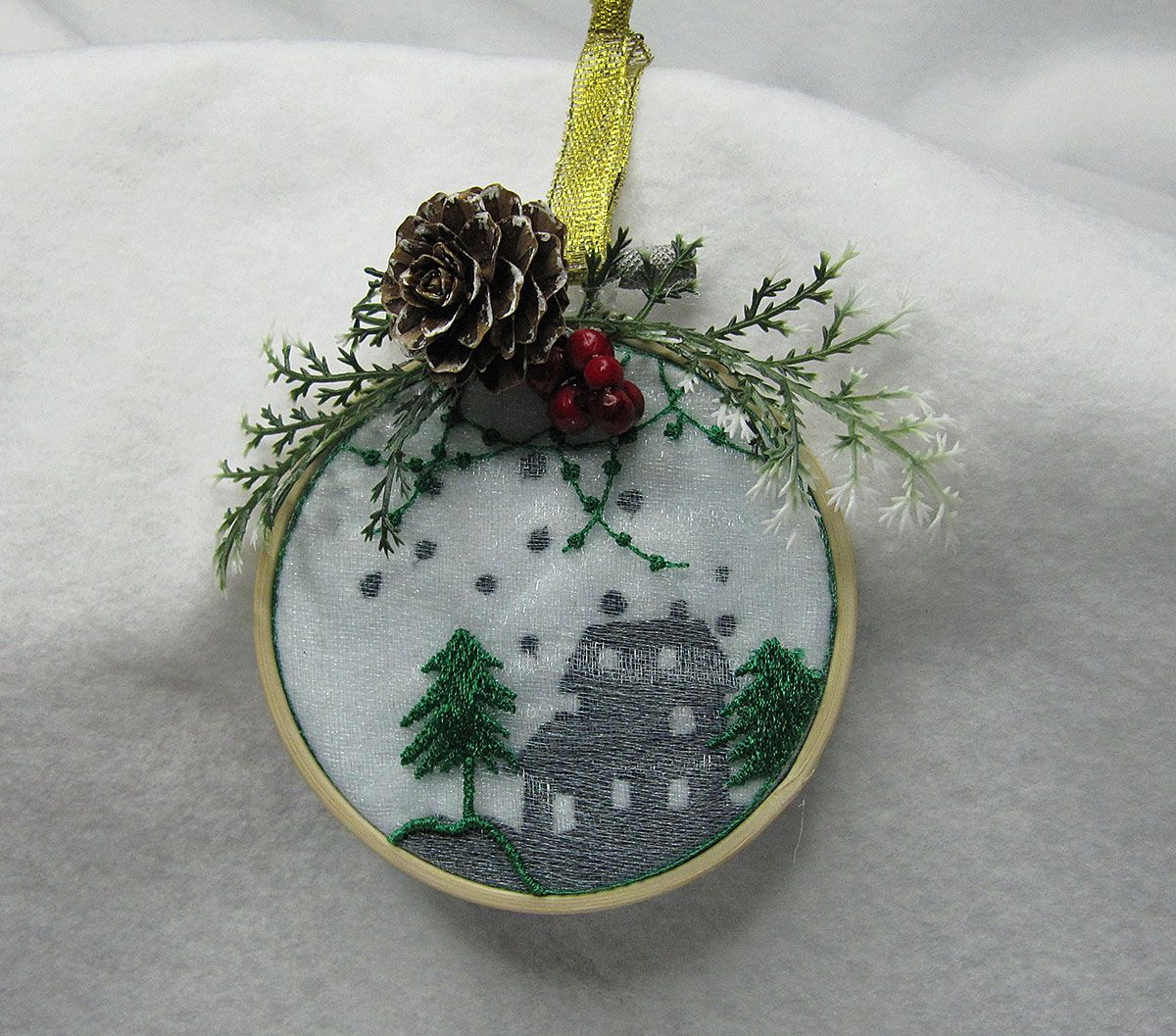 Christmas Dimension Ornament House Embroidery Design