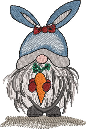 Egbert Gnomekin Embroidery Design