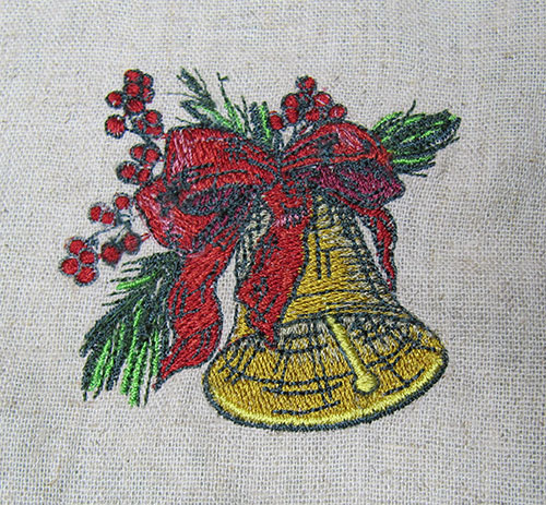 Vintage Christmas Bells Embroidery Design
