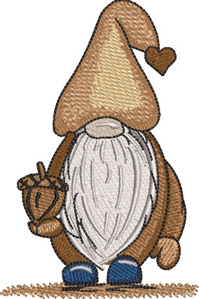 Willis Gnome Embroidery Design