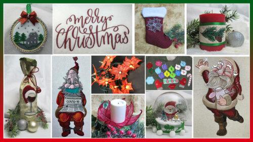 Christmas Embroidery Design Bundle