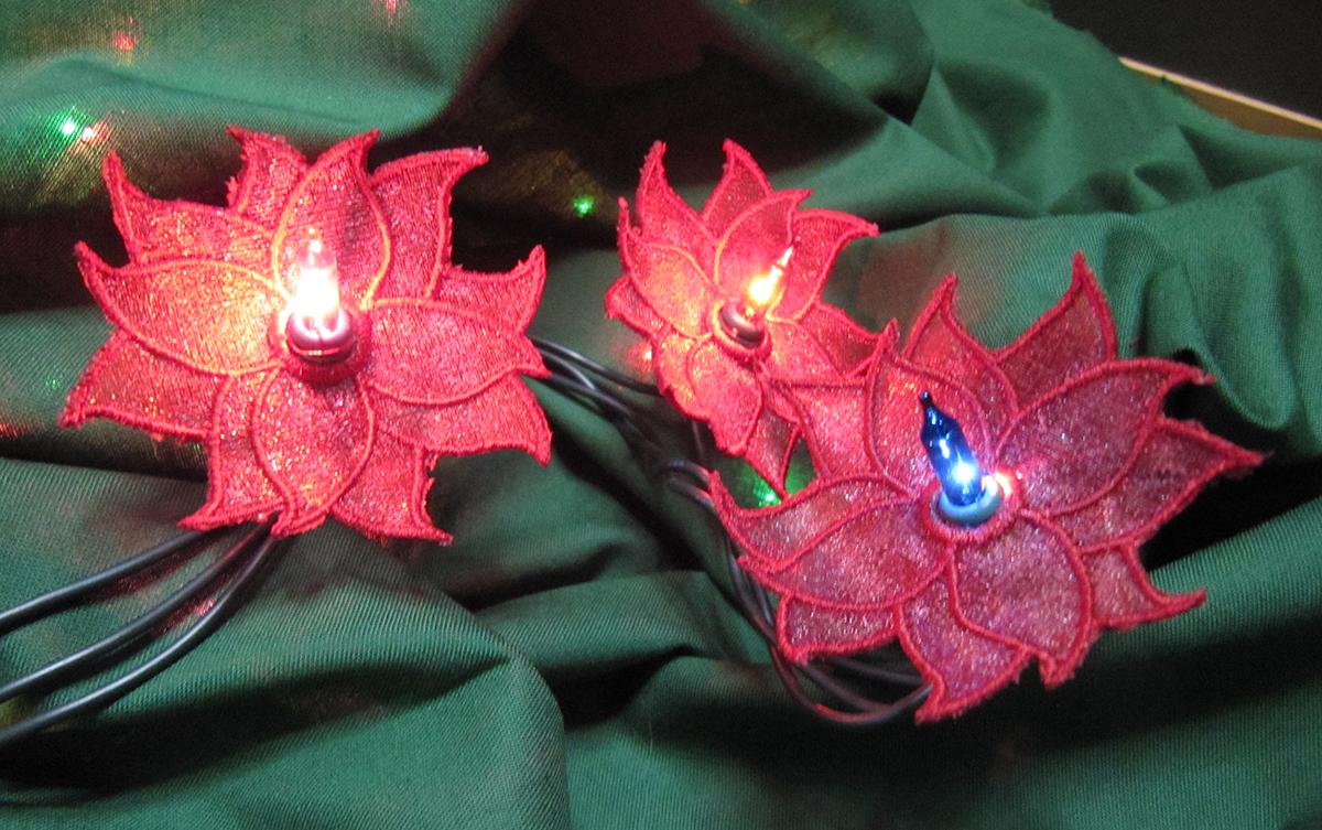 poinsettia string lights