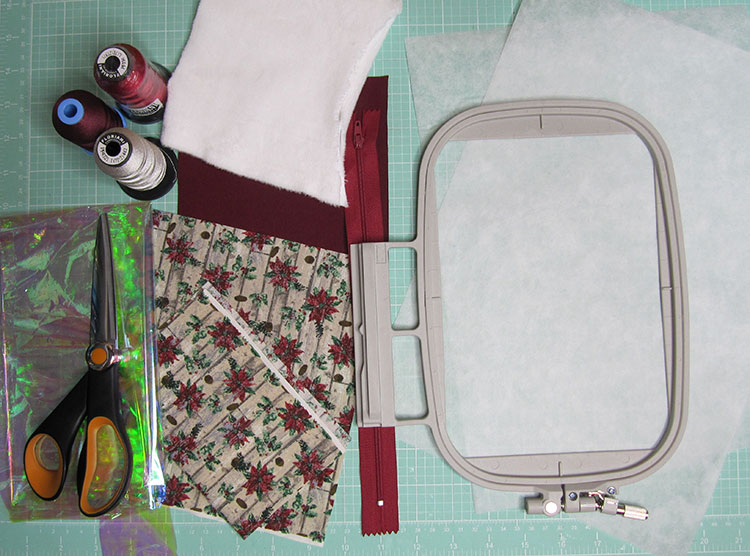 Supplies for embroidery stocking
