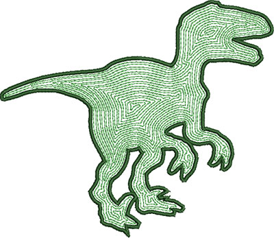 Dinosaur 1 satin outline embroidery design