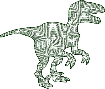 Dinosaur 1 outline embroidery design