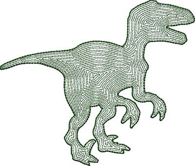 Dinosaur 1 outline embroidery design