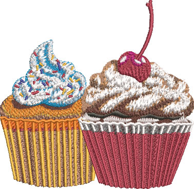 Cupcakes Party Embroidery Design